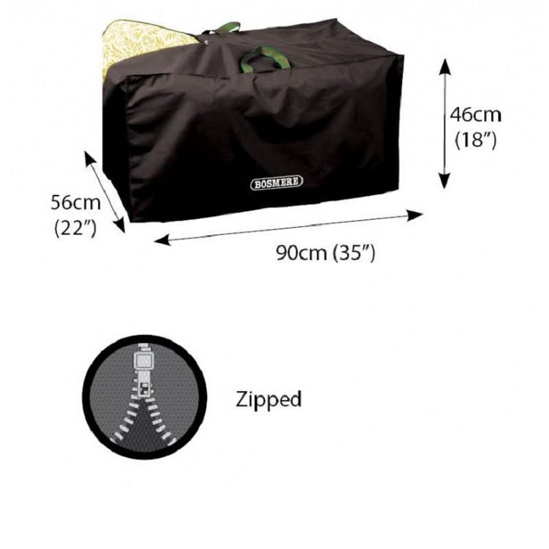 Bosmere D580 - Storm Black - Cushion Sto-Away Storage Bag