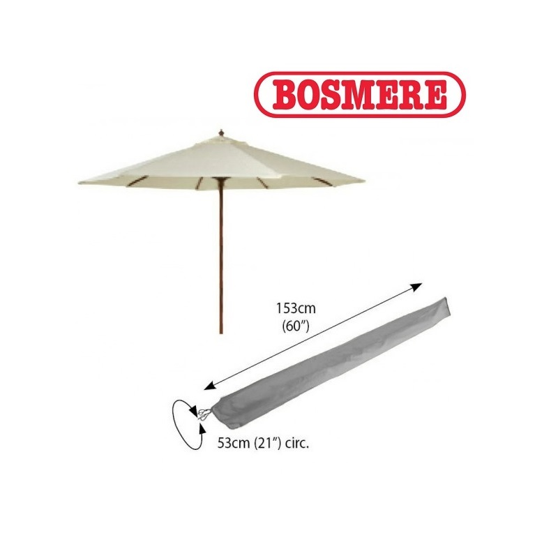 Bosmere U590 - Large Parasol Cover Thunder Grey